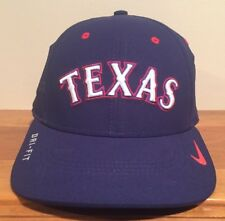 79241b815f8 Texas Rangers Nike Dri-Fit Perf Baseball Cap Hat One Size Small-Med