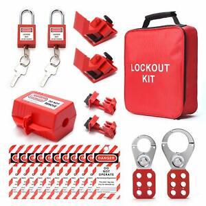 Breaker Lockout Tagout Kit Electrical Lockout Lock Set Plug Lockout Loto Hasp