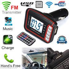 LCD Wireless Car MP3 MP4 Player FM Transmitter Modulator SD/ MMC Card USB Remote
