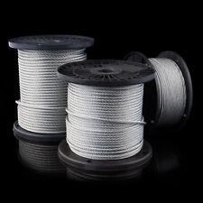Stahlseil EDELSTAHL ummantelt 1mm /2mm /3mm /4mm /5mm /6mm /7mm /8mm /10mm SEIL