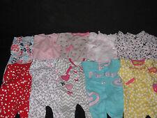 Baby Girl 3 months Snap Front Sleep & Play Footed Sleepers Sleepwear Lot #FTC7