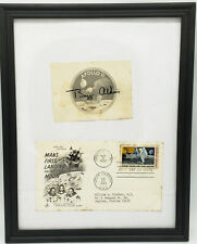 Apollo 11 First Man On The Moon Landing Stamped Envelope Signed By Buzz Aldrin