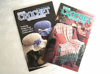2 Annies Crochet Booklets 1987 1990 Crafts Afghans Sweaters Christening Patterns