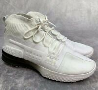 Under Armour UA Mens 14 White Black Project Rock 1 Basketball Training Shoes