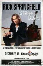 "RICK SPRINGFIELD ""STRIPPED DOWN TOUR"" 2015 SAN DIEGO CONCERT POSTER - 80's Rock"