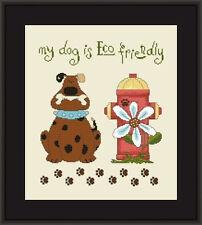 """Eco-Friendly Dog"" Pattern HELGA MANDL DESIGNS-CREATIVE POPPY Animals"