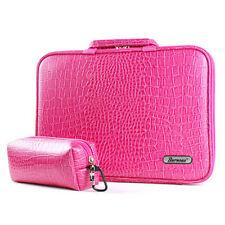 "iPad 1/2/3/4 9.7"" Tablet Case Sleeve Memory Foam Bag Crocodile Hot Pink"