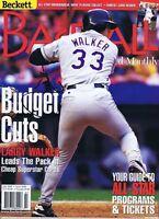 Larry Walker Signed 1995 Beckett Baseball Full Magazine Rockies