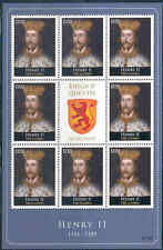 GAMBIA 2012 KINGS & QUEENS OF ENGLAND  KING HENRY II  SHEET OF EIGHT+LABEL