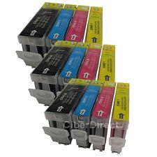 12 Cartucce Di Inchiostro CON CHIP PER CANON PIXMA iP3500