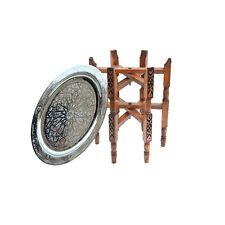 Marokkanischer Tisch orientalischer Messing Beistelltisch Arabischer Teetisch S4