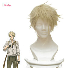 Violet Evergarden Benedict Blue Short Straight Heat Resistant Blonde Cosplay Wig