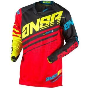 Answer Alpha Jersey in Red Acid Black - Answer Motocross Enduro Jersey