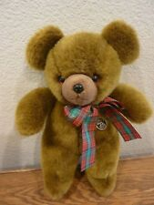 "Knickerbocker Bear - 75th Anniversary Collection - Shaggy - 12"" Brown Plaid Bow"