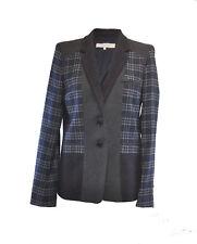 ** Gerard Darel ** Blue / Grey Tweed Jacket ** 38 ** Wool / Lined **
