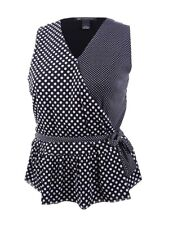 Inc Womens B/w Polka Dot Sleeveless Pullover Top Shirt Plus 0x BHFO 4912