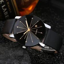 Luxury Men's Women Stainless Steel Date Quartz Analog Boy Sport Dial Wrist Watch Brown
