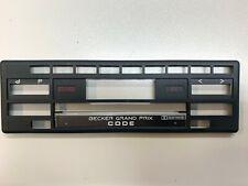 BECKER GRAND PRIX Code BE 779 AutoRadio Car faceplate trim