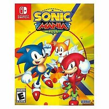 Sonic Mania Plus (Nintendo Switch, 2017) -Game Cartridge Only