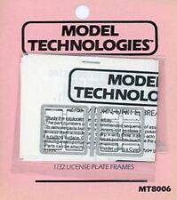Model Technologies 1:32 License Plate Frames PE Detail #MT8006