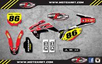Custom Graphics Full Kit for Honda CRF 150 R 2007 - 2019 PYRO style stickers