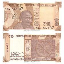 India 10 Rupees 2017 First Prefix P-New Banknotes  UNC