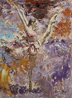 Original Painting by American Artist Grace Eun Jung /Ballerina