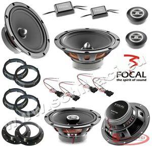 Kit 6 HP enceintes haut-parleurs FOCAL pour Volkswagen et Audi avec adaptateurs