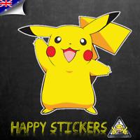 Pokemon Pikachu Hello Hi Luggage Car Skateboard Laptop Vinyl Decal Sticker
