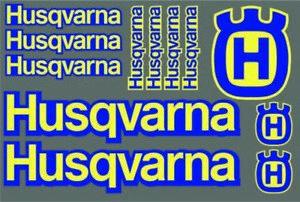 12X HUSQVARNA RACING PRINTED STICKERS DECALS SHEET GRAPHICS LOGO BIKE MOTORBIKE