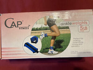 CAP Weight Training Ankle Wrist Weights 5lb Pair Set Workout Leg