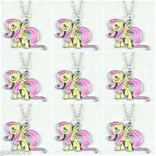9pcs My Little Pony Fluttershy Charms Necklaces Girls Birthday Party Favor Gifts