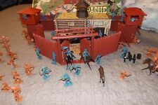 OLD MARX FORT APACHE SEARS HERITAGE PLAY SET INDIAN SOLDIER WESTERN COWBOY FIGHT
