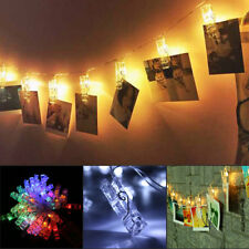 40 x LED Hanging Picture Photo Peg Clip Fairy String Lights Party Decoration