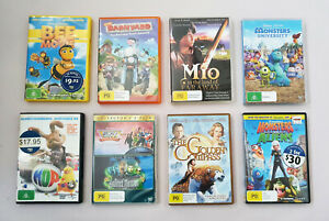 DVD TV kids movies and cartoons used all in good condition