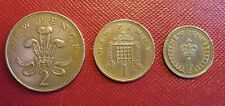 More details for 1971 new pence,1/2p 1p and 2p pence set of 3 decimal coins, fine condition.