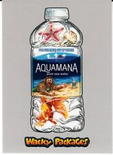 2018 WACKY PACKAGES GO TO THE MOVIES SILVER BORDER AQUAMANIA ACTION FILM 49/50
