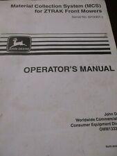 John Deere Z-Trak Mowers Material Collection System Operator's Manual 1998