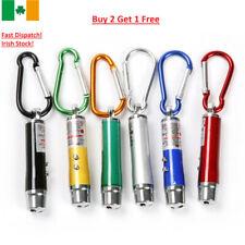 3 in 1 Portable LED Laser Torch Beam Light Flashlight Pen Pointer Keychain