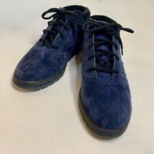Vintage 1992 La Gear womens shoes Blue suede lace ups size 7