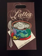 Lattes With Character Limited Edition Disney Pin Little Mermaid Ariel Flounder