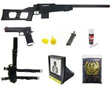 WELL MK 96 Bolt Action Sniper Airsoft Rifle KJW Metal KP06 Pistol