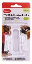 Clippasafe Autoadesivo CREDENZA & cassetto SERRATURE 2 Pack la sicurezza del bambino nuovo con confezione