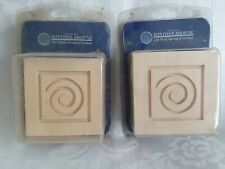 9cm Winther Browne Fine Wood Mouldings THREE Carving SPIRAL SQUARE Hardwood
