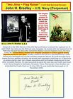 """""""Navy Cross"""" John Bradley Signed Card Tipped To A Dispaly Todd Mueller  COA"""