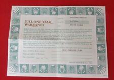 ROLEX 66238 CELLINI Guarantee Garantie Warranty Certificate 1991 568.06.9V