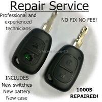 Repair For Renault Trafic Master Kangoo Remote Car Key fob Case Blade service