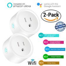 2xWiFi Smart Outlet Plug Socket Remote Control Timer Switch fr Alexa Google Home
