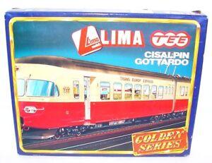 "Lima HO SWISS SBB-CFF ""CISALPIN"" GOTTARDO TEE MULTIPLE 4-UNIT Train Set MIB`90!"