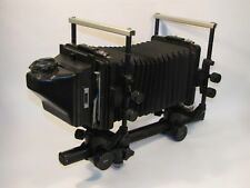 CALUMET CAMBO MONORAIL LARGE FORMAT 4x5 ADJUSTABLE BELLOWS CAMERA w VIEWFINDER